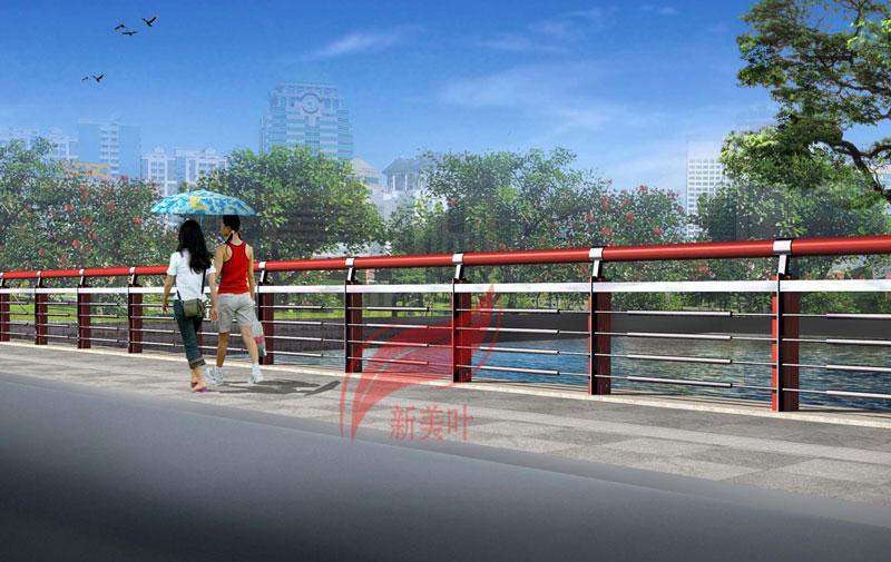 5656 特色不锈钢桥梁护栏设计效果图展示(以量产)