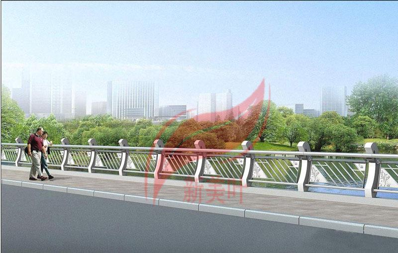 3 新美叶公司新款铸造石河道护栏(部分)