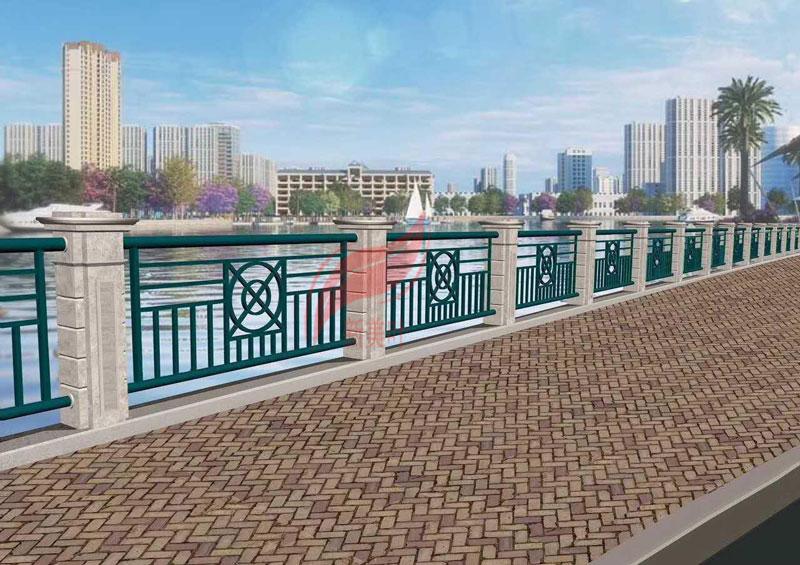 5 新美叶公司新款铸造石河道护栏(部分)