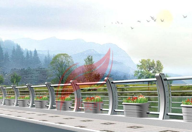6 新美叶公司新款铸造石河道护栏(部分)