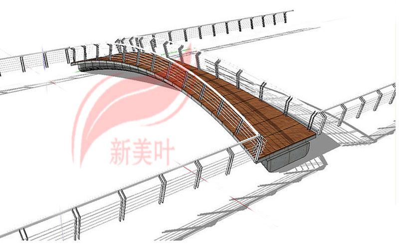 1-1 新美叶公司新品景观桥梁护栏部分设计建模展示(概念款)