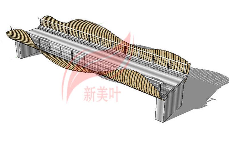 2 新美叶公司新品景观桥梁护栏部分设计建模展示(概念款)