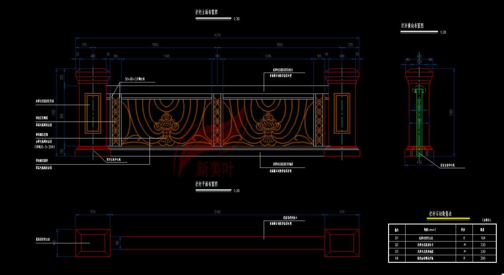 20190831092828 新美叶湖北武汉景观桥梁装饰护栏铸造石特色护栏施工图