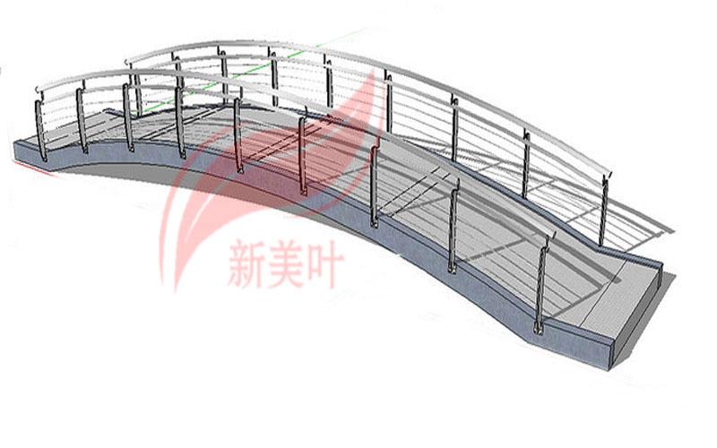 3-1 新美叶公司新品景观桥梁护栏部分设计建模展示(概念款)