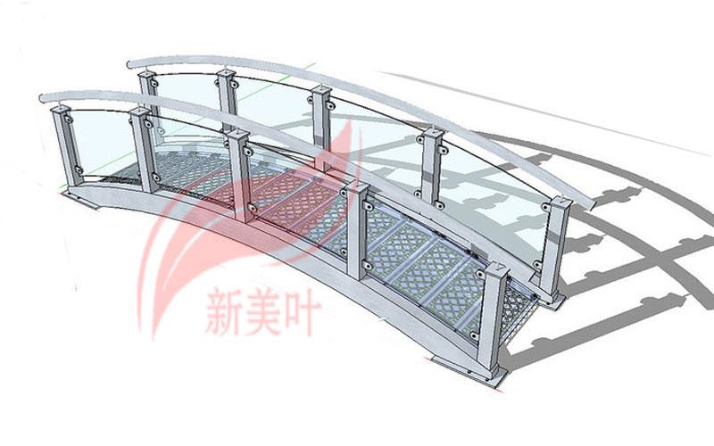 4-1 新美叶公司新品景观桥梁护栏部分设计建模展示(概念款)