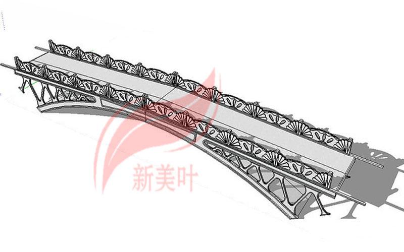 6-1 新美叶公司特色景观桥梁装饰护栏设计模型展示(部分)