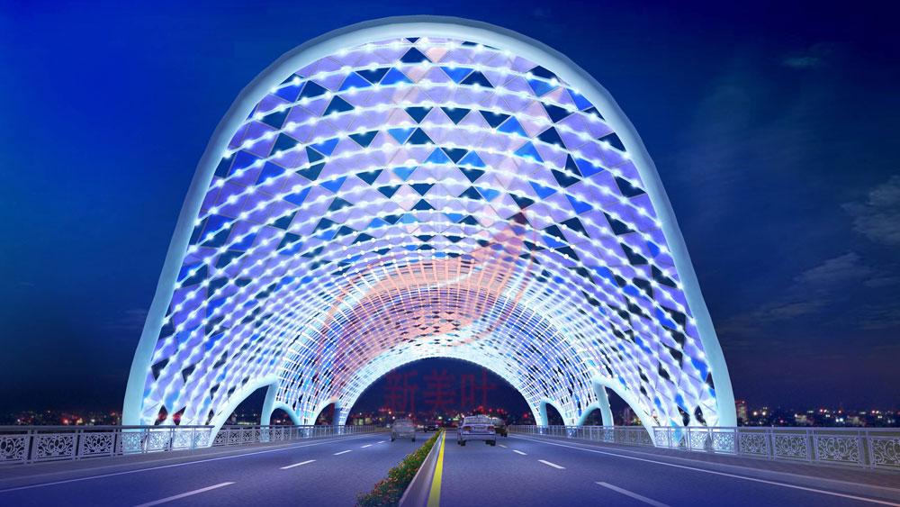 C 新美叶公司2019年上半年桥梁装饰工程方案设计效果图公示(部分)