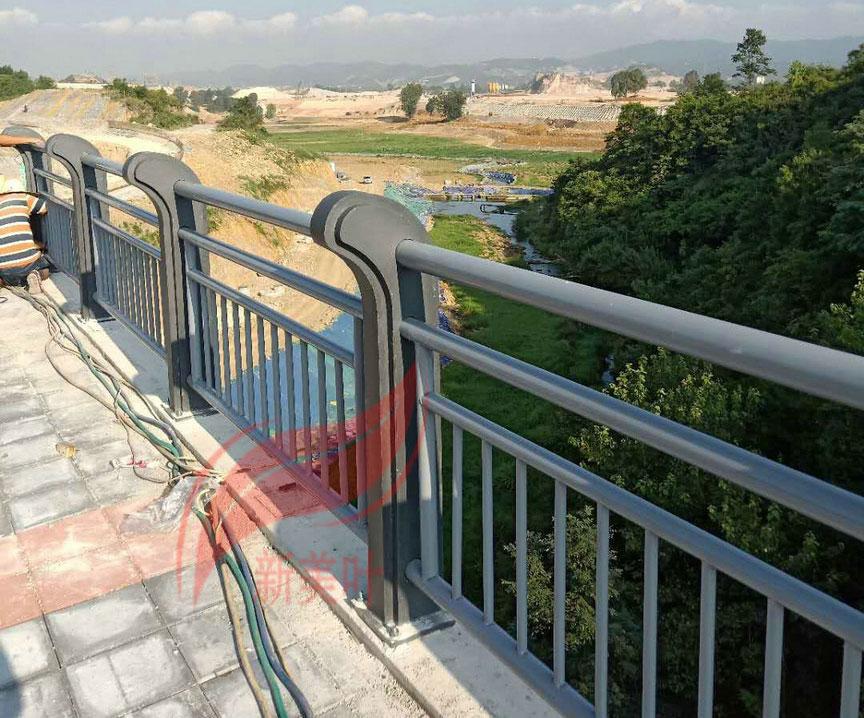 20180721085401536 四川遂宁河道护栏施工完毕