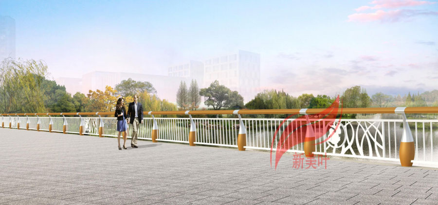 3 2020年初新款桥梁河道护栏效果图公示